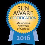 Certified Sun Safe & Sun Aware.